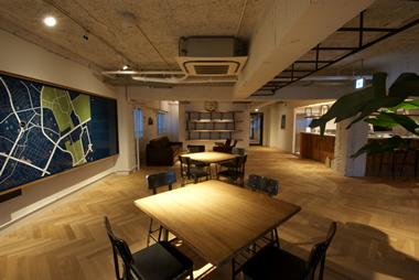 施設内にオフィスを「THE SHARE TOKYO SOCIAL STANDARD」